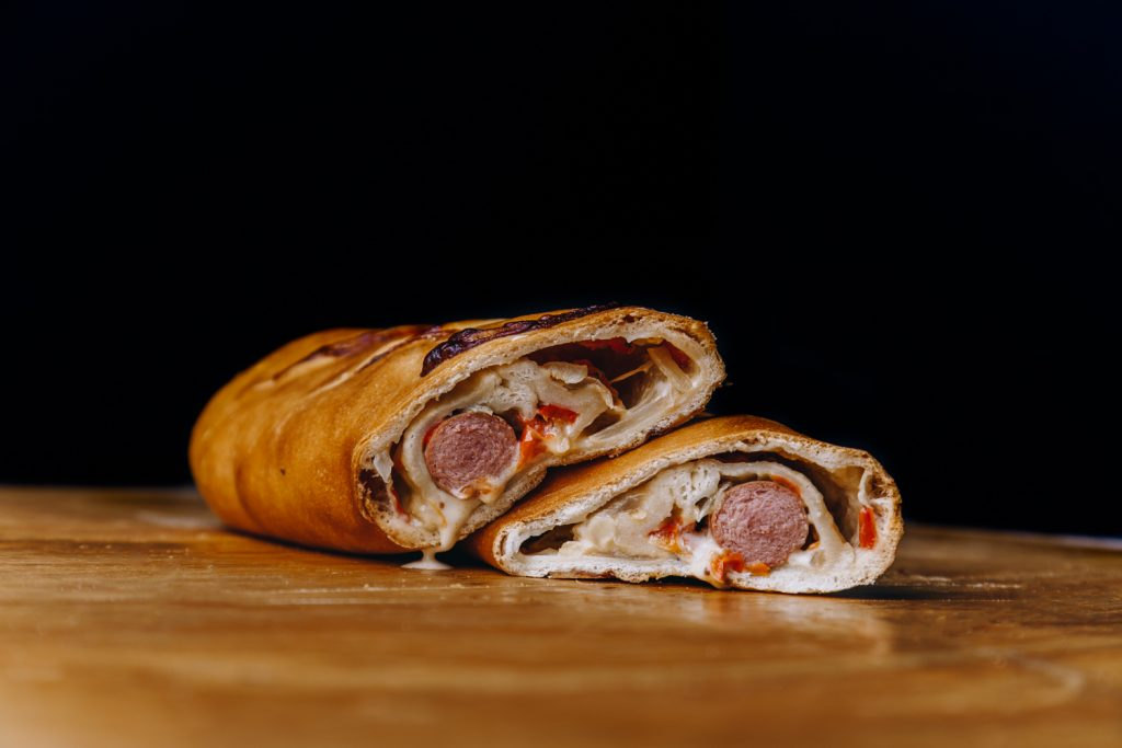 Italian Hotdog Stuffed Bread