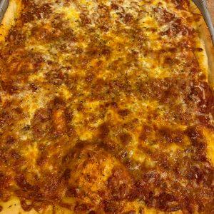 Half Sheet Pizza (Sauce & Cheese)